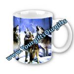 Wolf Mugs Personalised FREE Of Charge